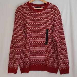 Mens Fairisle Crew-Neck Sweater XL